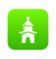 church icon green vector image vector image