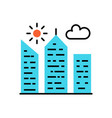 city building icon vector image vector image