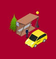 city public transport taxi 3d isometric view vector image vector image