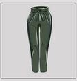 classic green pants khaki oversize fashion vector image vector image