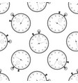 classic stopwatch icon seamless pattern vector image vector image