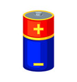 colorful cartoon d type battery