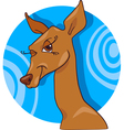 Cute doe or roe cartoon character vector image