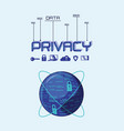data privacy set icons vector image vector image