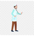 doctor stethoscope icon flat style vector image vector image