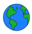 doodle globe icon vector image