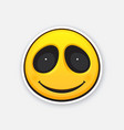 emoji smile face happy emoticon character vector image