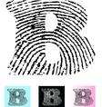 Fingerprint Alphabet Letter B vector image vector image