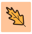 flat color leaf icon vector image vector image