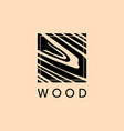 furniture logo wood natural pattern wood vector image vector image