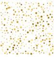 gold stars star confetti celebration falling vector image
