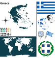 Greece map vector image