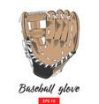 hand drawn sketch baseball glove vector image vector image