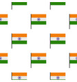 indian flag pattern seamless vector image vector image