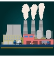 Industrial factory buildings set in flat style vector image vector image