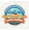 kayak club concept for patch badge vector image vector image