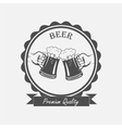 label hand with a mug beer vector image