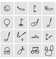 line golf icon set vector image vector image