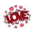 Love bang vector image vector image