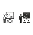 management consulting icon for graphic and vector image vector image