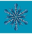 music snowflake for christmas party sign vector image vector image
