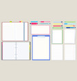 notebook diary open notepad empty sketchbook vector image vector image
