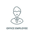 office employee line icon linear concept vector image vector image