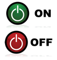 On and off buttons vector image