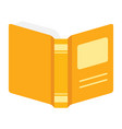 open book information knowledge and education vector image vector image