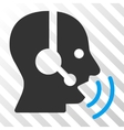 Operator Speech Sound Waves Icon vector image vector image