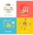 Painting Work Design Concept vector image