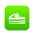 piece of cake icon digital green vector image