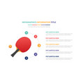 pingpong infographic template concept with five vector image