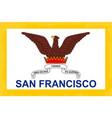 san francisco city flag vector image vector image