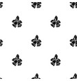 seamless pattern with black christmas handbells vector image vector image