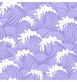 Seamless pattern with violet waves vector image