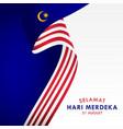 selamat hari merdeka malaysia design for banner vector image vector image