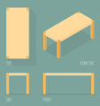 Set of modern table isometric drawing vector image