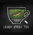 sketch lemon green sweet tea vector image