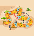 snake and ladders game with adventure vector image vector image