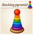 Stacking toy pyramid Cartoon vector image vector image