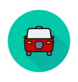 taxi icon on round background vector image vector image