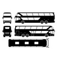tourist bus black icons vector image vector image