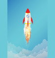 toy space rocket with smoke vector image