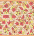 tropical pattern with orchid hibiscus flowers vector image