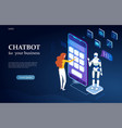 using chatbot technology in a business vector image