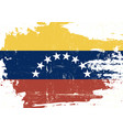venezuela scratched flag vector image vector image