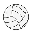 volleyball ball isolated icon design vector image vector image