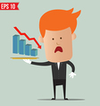 Waiter show graph on dish - - EPS10 vector image vector image