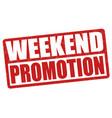 weekend promotion grunge rubber stamp vector image vector image